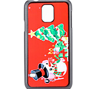 Christmas Tree and Snowman and Gift Pattern PC Hard Back Cover Case for Samsung Galaxy S5
