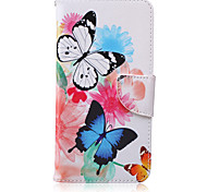 Butterfly Pattern PU Leather Material Flip Card Phone Case for iPhone 6 Plus/6S Plus