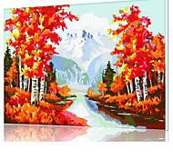 diy pintura a óleo quadro pintura digital divertimento família sozinha x5025 ouro outono