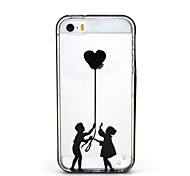 2-in-1 The Boy And Girl Pattern TPU Back Cover with PC Bumper Shockproof Soft Case for iPhone 5/5S