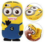 3D Yellow People Soft silica Phone Case For iPhone 4/4S