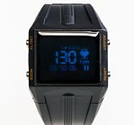 großen schwarzen Smart Uhr wasserdicht Herzfrequenz Statistiken Bewegungsaufzeichnung Anrufsignal