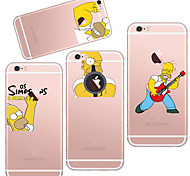 MAYCARI®The Handsome Simpson TPU Back Case for iPhone 6/iphone 6S(Assorted Colors)