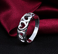 "2015 Fashion Size 8 Heart""LOVE"" Sterling Silver Ring  Band Rings For Woman & Lady"