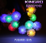 King Ro 6.5M 20LED Solar String lights Fancy Ball Shaple Lamp fine Wedding String Lights