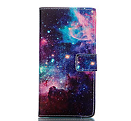 For LG Case Card Holder / Wallet / with Stand / Flip Case Full Body Case Scenery Hard PU Leather LG