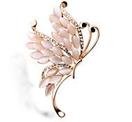 Crystal Opal Butterfly Brooch