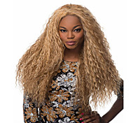 venda quente perucas loiras sintéticas ondas longas excêntricas