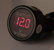 CARCHET LED Car Auto Battery Electric Cigarette Lighter Plug Voltmeter Voltage Meter