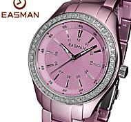 EASMAn Watch 2015 Women Purple Titanium Aluminum Quartz Watches Zircon Water Resistance Ladies Wristwatches Watches