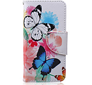 Two Butterflies Painted PU Phone Case for iphone5/5S