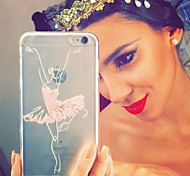 MAYCARI®Ballet Dancer Transparent TPU Back Case for iPhone 5/iphone 5s