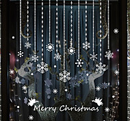 Merry Christmas White Snow Decoration PVC Wall Sticker Wall Decals