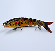 5.23 Inch 19 G Slow Sinking Hard Swim Bait Baby Brown Trout Fishing Lures for Bass Pike Fishing