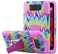 Silicone Gel Rubber Case With PC Stand cover Skin for Motorola Droid Ultra (Assorted Colors)