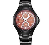 SINOBI Men's Fashion Casual  Quartz Movmt Black Band Watches Wrist Watch Cool Watch Unique Watch