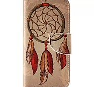 Orange Dreamcatcher Painted PU Phone Case for Galaxy S6edge Plus/S6edge/S6/S5/S5mini/S4/S4mini/S3/S3mini