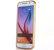 For Samsung Galaxy Case Ultra-thin Case Bumper Case Solid Color Metal Samsung S6