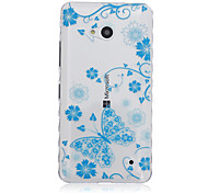 Blue Butterfly Pattern Material TPU Phone Case for Nokia N640