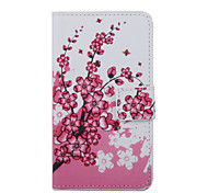 Pink Flower Pattern PU Leather Full Body Cover with Stand for Wiko Lenny 2
