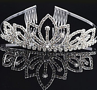 Silver Crown FLower for Wedding Hair Jewelry