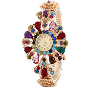 Women'S Watches Fashion Crystal Flowers Bracelet Watch