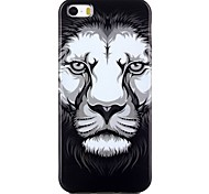 Lion head Pattern TPU Phone Case for iPhone 5/iPhone 5S