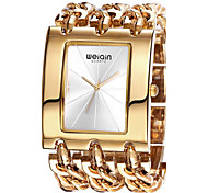 WEIQIN® Women's Square Dial Bangle Watches Ladies Gold Silver Chain Bracelet Watches Quartz Wristwatch Cool Watches Unique Watches