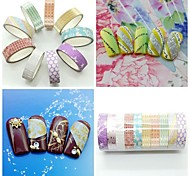 10pcs Mix Color&Style Glitter Striping Tape Nail Art Decoration