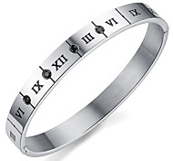 ailaicity®Titanium Steel Roman Numerals Couple Bracelet Valentine's Gift