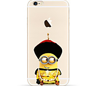 Chinese Emperor Yellow People Pattern TPU Soft Phone Case for iPhone 6/6S