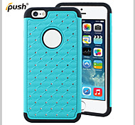Bling Star Crystal Rhinestone Diamond Case Original Protector Back Cover for iPhone 6 Plus(Assorted Colors)