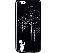Dandelion TPU Material Cell Phone Case for iPhone 5C