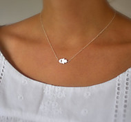 Women's Simple Fashion Good Luck Palm Pendant Short Necklace