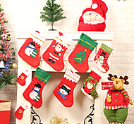 2015 la venta de navidad grande calcetín apliques (PC 1 color al azar)
