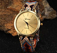 Women Big Circle Dial  National Hand Knitting Brand Luxury Lady Watch C&D-280 Cool Watches Unique Watches Fashion Watch