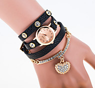 Litchi Skin Full Of Diamond Heart-Shaped Pendant Diamond Bracelet Ladies Bracelet Watch Cool Watches Unique Watches