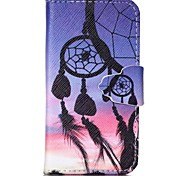 Finger Buckle Dreamcatcher Painted PU Phone Case for iphone4/4S