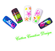Beautiful Fluorescence Nail Art Stickers QJ05-08(4pcs)