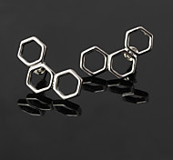 HUALUO®Korean Fashion New Metal Circle Geometric Earrings
