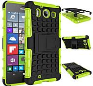 ТПУ + PC гибрид прочный резиновый брони стоять жесткие случаи крышки для Nokia Lumia 950