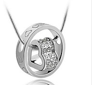 Муж. Жен. Ожерелья с подвесками В форме сердца Стерлинговое серебро Мода Свадьба Бижутерия Назначение Свадьба Повседневные