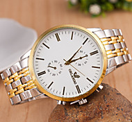 Men Metal Strip Metal Quartz Wrist Watch