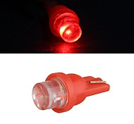 10 X T10 LED Car Side Light Bulb Lamp DC 12V 0.35W (White/Red)