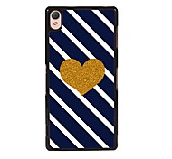 For Sony Case / Xperia Z3 Pattern Case Back Cover Case Heart Hard PC SonySony Xperia Z3 / Sony Xperia Z3 Compact / Sony Xperia M4 Aqua /