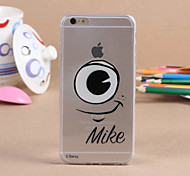 One Black Eye Pattern TPU Material Phone Case for iPhone 6/6S