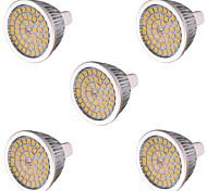 10W GU5.3(MR16) LED Spot Lampen MR16 48 SMD 2835 810 lm Warmes Weiß / Kühles Weiß Dekorativ AC 85-265 / AC 12 V 5 Stück