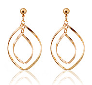 Simple Style Twisted Loops Alloy Earrings