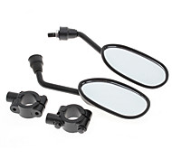 1 Pair Motorcycle Bike Side Rear View Mirror 8mm with 2 Handlebar Mount Holder