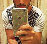 maycari® glücklicher Klee transparente TPU Tasche für iPhone 5 / iphone 5s